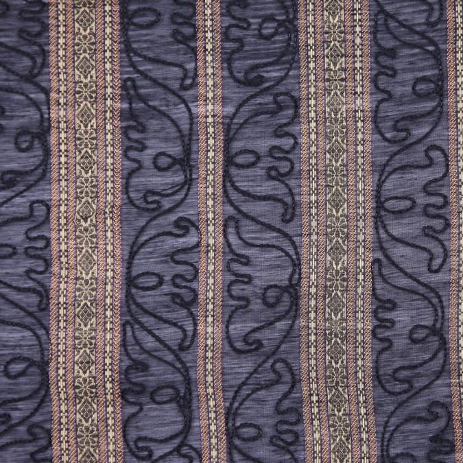 black ribbon woven jacquard poly fs12661 11