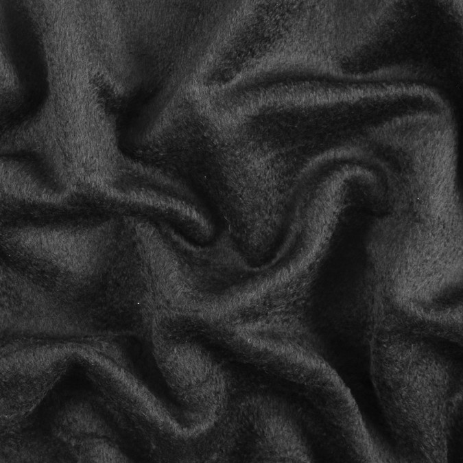 black short piled wool coating 311555 11