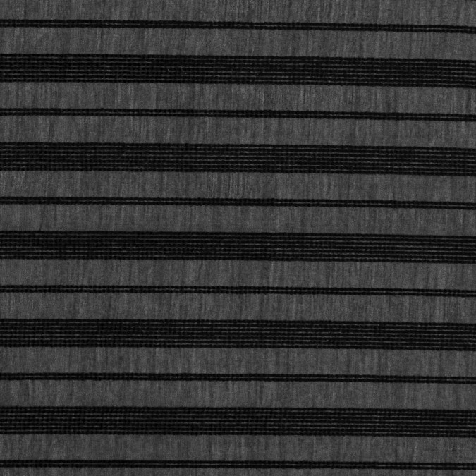 black silk voile with raised spotted woven stripes 318806 11