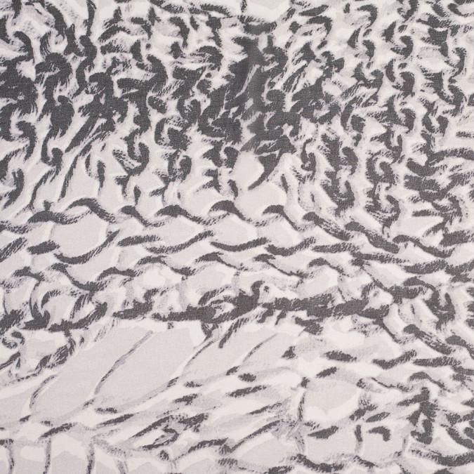 black silver animalistic polyester chiffon panel 305809 11