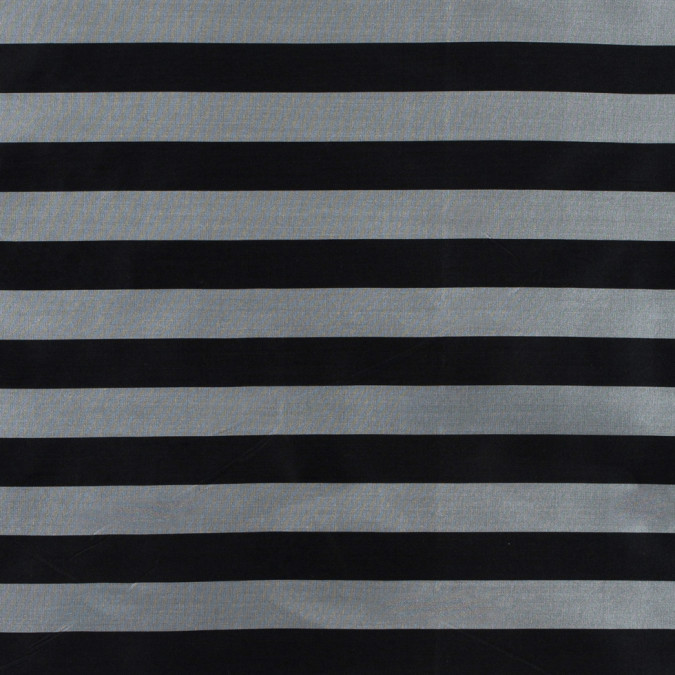 black silver awning striped polyester taffeta 311060 11