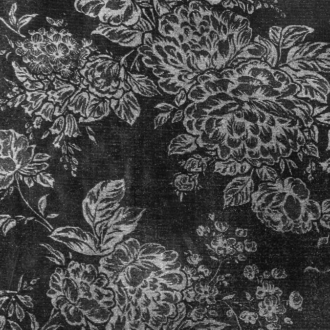 black sliver floral metallic mesh 311487 11