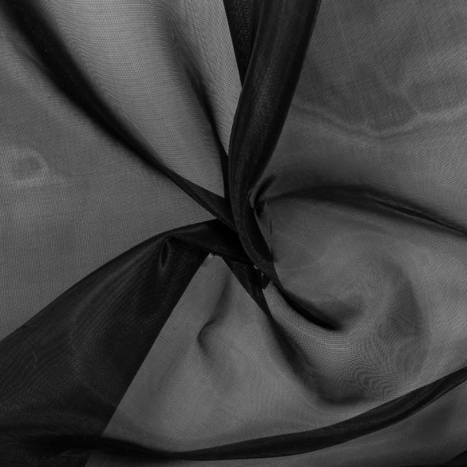 black stiff polyester organdy 115993 11