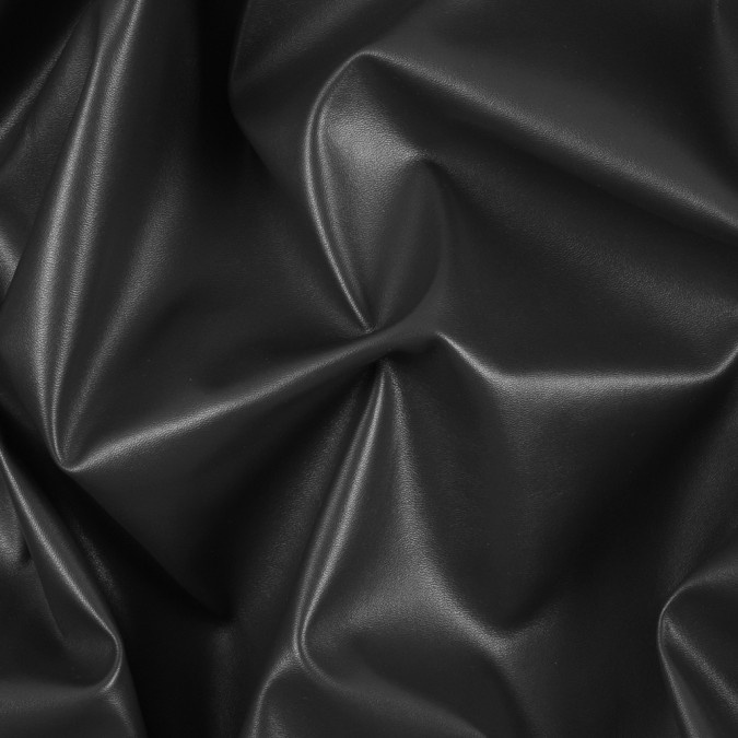 black stretch faux leather vinyl 311403 11