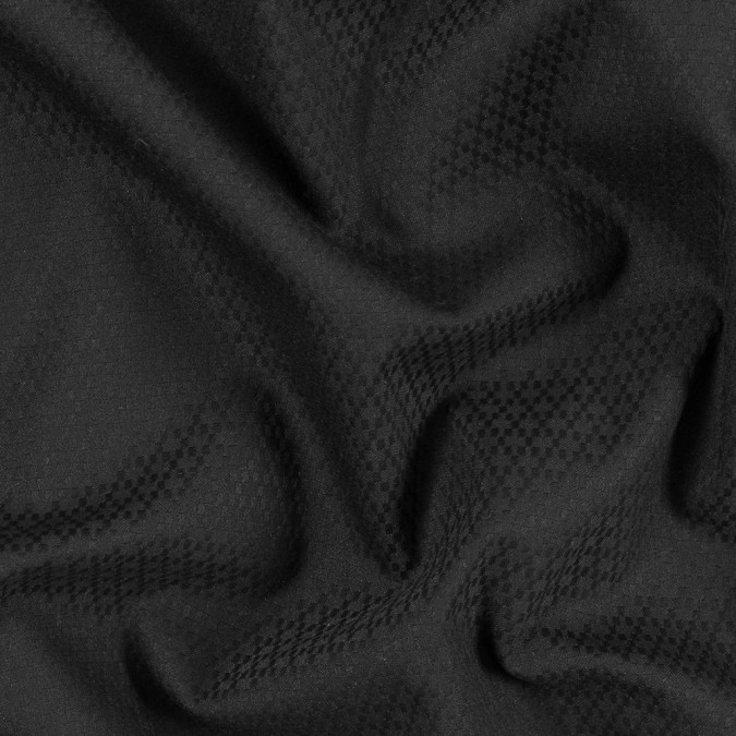 black stretch polyester dobby jacquard 314190 11