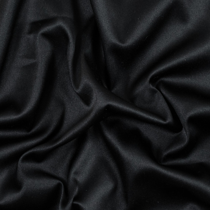 black stretch polyester satin with a brushed twill backing fp25586 11