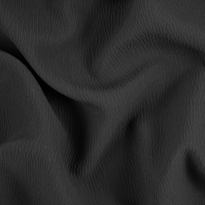 black textural blended silk double cloth 310911 11