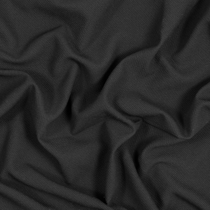 black textural crepe with smooth backing 318442 11