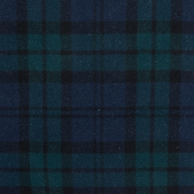 black watch plaid wool twill coating 317257 11