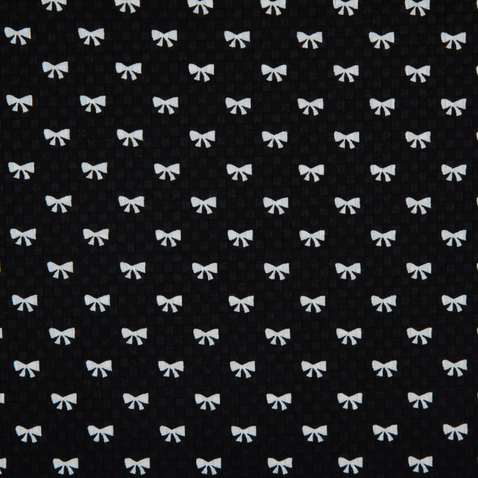 black white bow printed cotton dobby jacquard 114154 11