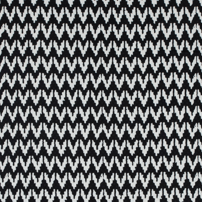 black white chevron cotton dobby jacquard 114159 11