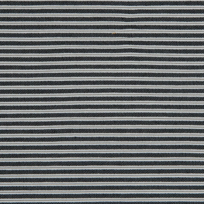 black white gray striped stretch cotton woven 310593 11