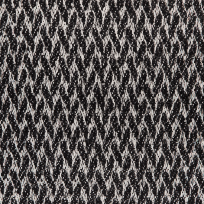 black white herringbone wool tweed 310047 11