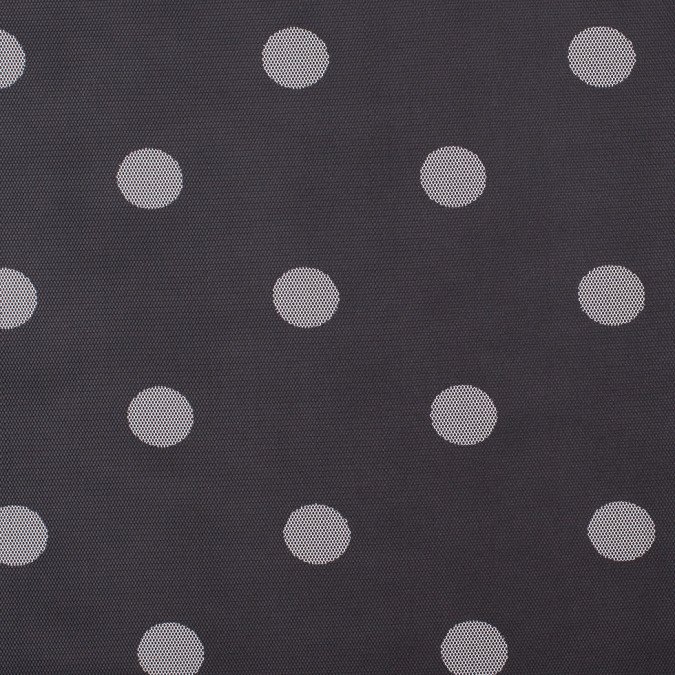 black white polka dot polyester mesh 308938 11