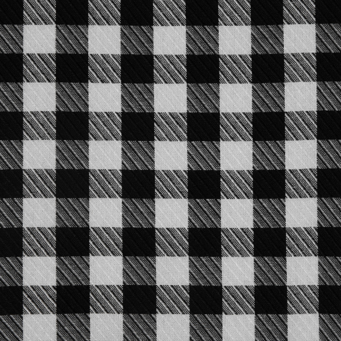 black white shepherd s check viscose twill 310745 11