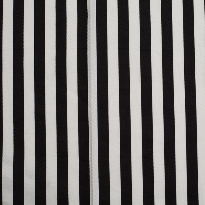 black white striped cotton dobby 306380 11