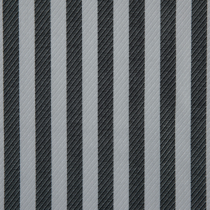 black white striped viscose twill 310744 11