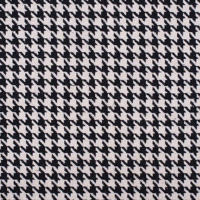 black white wool blend intricate houndstooth coating 308225 11