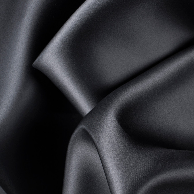 black wide silk satin face organza pv4000 196 11