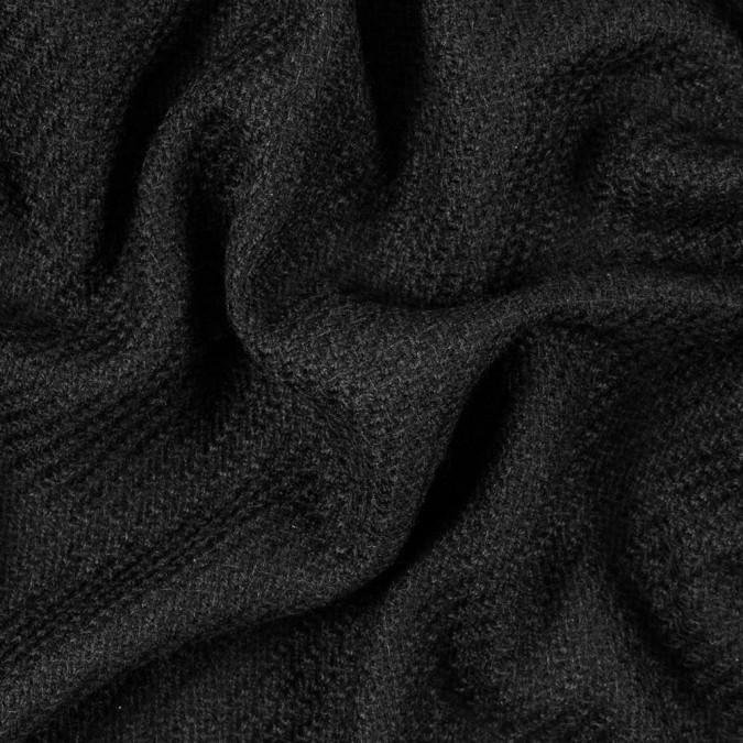 black woolen wool like acrylic twill 315263 11