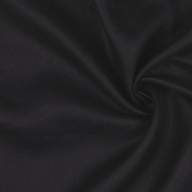 black woven linen suiting 114288 11