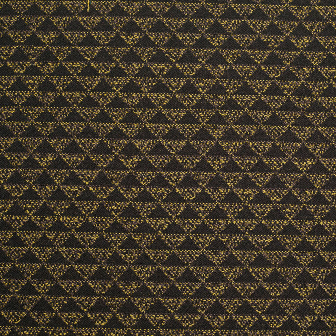 black yellow geometric italian wool polyester boucle 305784 11