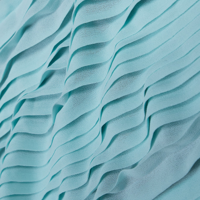 bleached aqua accordion pleated chiffon 314080 11