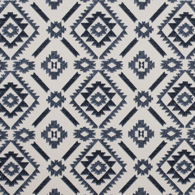 bleached sand and steel gray geometric printed stretch cotton sateen 314629 11