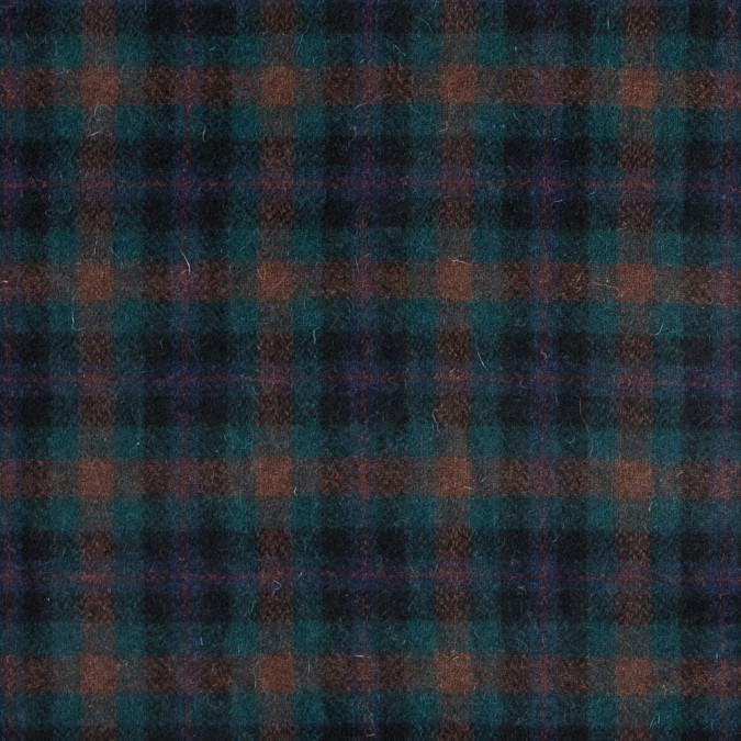 blue green and orange plaid wool coating 317248 11