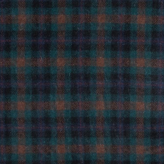 blue green and orange plaid wool coating 317248 11