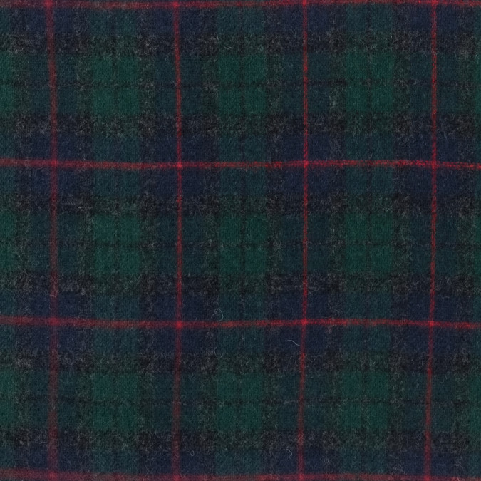 blue red and green plaid wool double cloth 317211 11