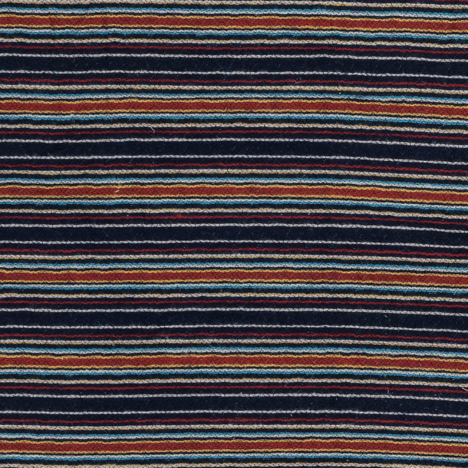 blue red and yellow barcode striped cotton woven with quilted backing 318952 11