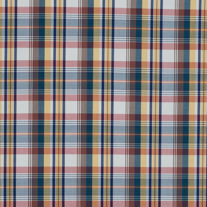 blue red and yellow madras plaid cotton shirting 318824 11