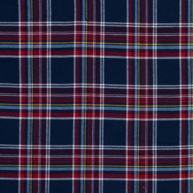 blue red and yellow plaid cotton flannel 316011 11