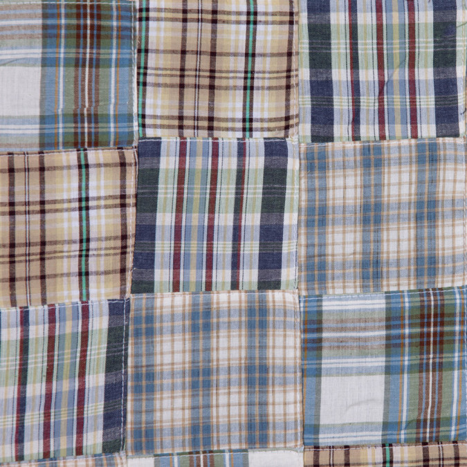 blue and beige multi colored patchwork cotton madras fc19366 11