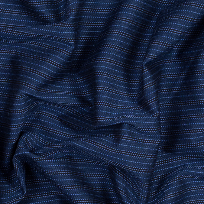 blue and black textural striped silk woven 319269 11
