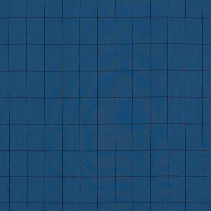 blue and black windowpane check cotton woven 318811 11