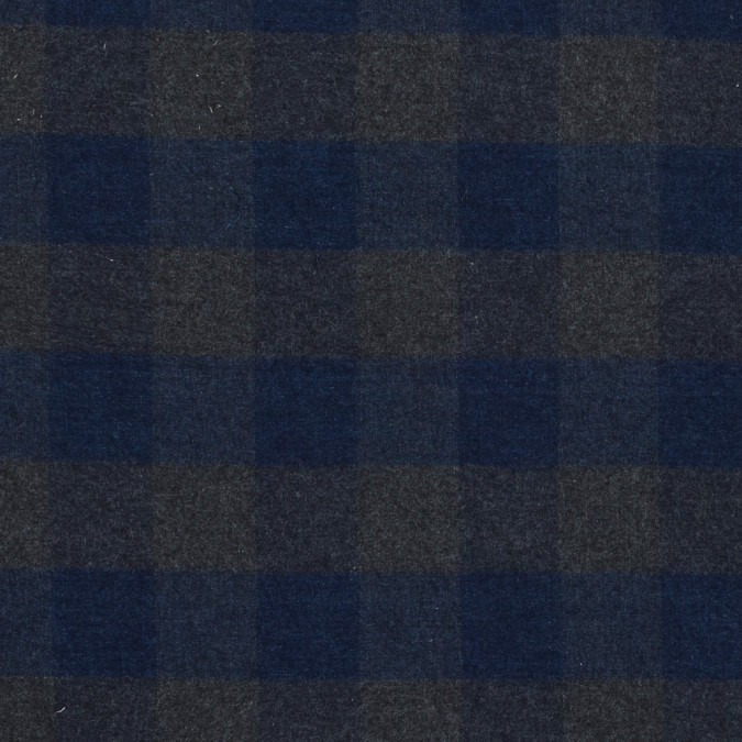 blue and gray buffalo check brushed cotton twill 318891 11