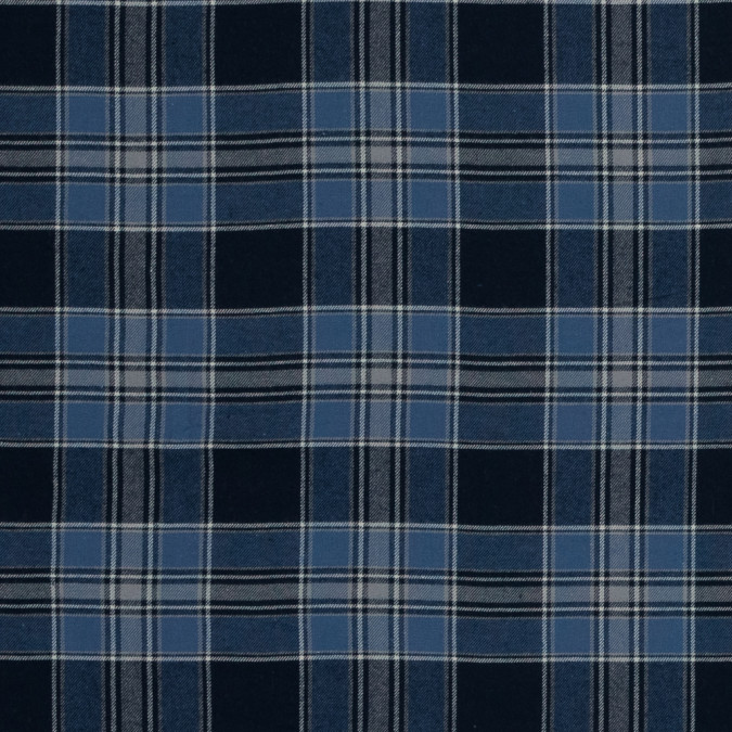 blue and gray plaid cotton flannel 316003 11