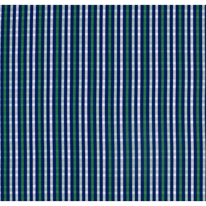 blue and green checked cotton shirting 303710 11