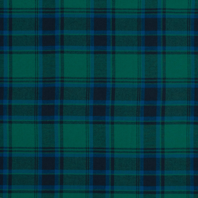 blue and green plaid cotton flannel 316010 11