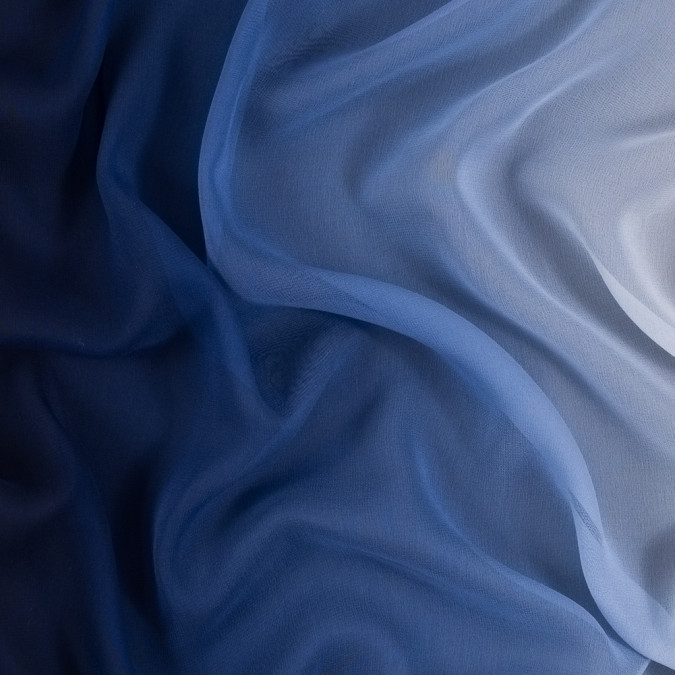 blue and ivory ombre silk chiffon 314012 11
