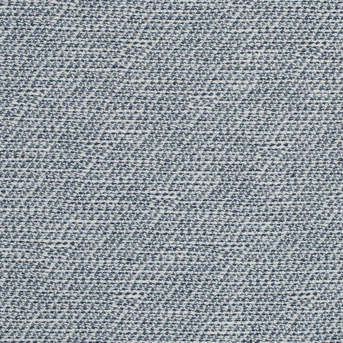 blue and ivory stretch cotton tweed 317647 11