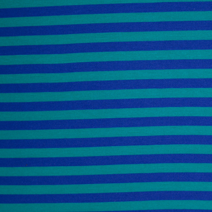 blue and jade striped polyester blended ponte de roma 107915 11