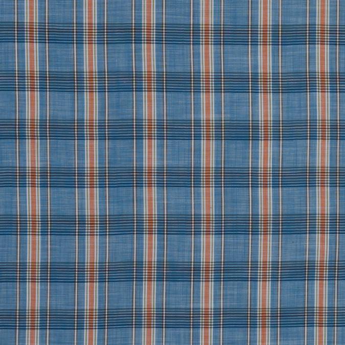 blue and orange plaid cotton lawn 318793 11