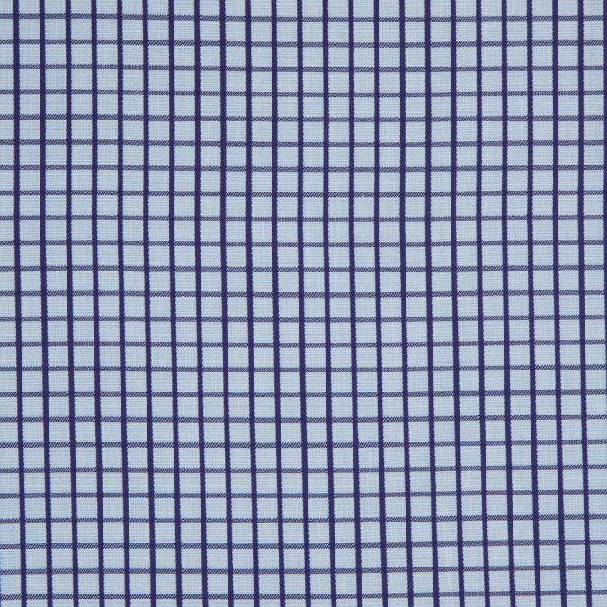 blue and purple checked cotton shirting 303627 11