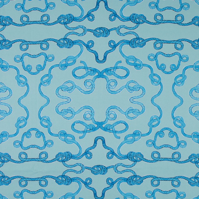 blue and seafoam rope printed stretch cotton sateen 315822 11