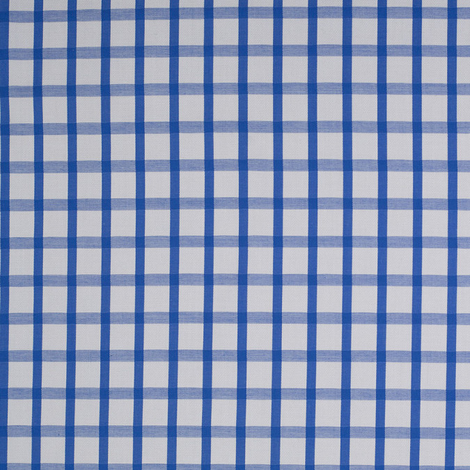 blue and white checkered cotton shirting 107272 11