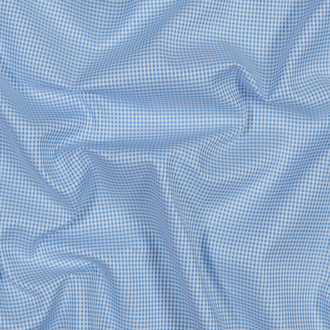 blue and white checkered luxury cotton shirting 118447 11