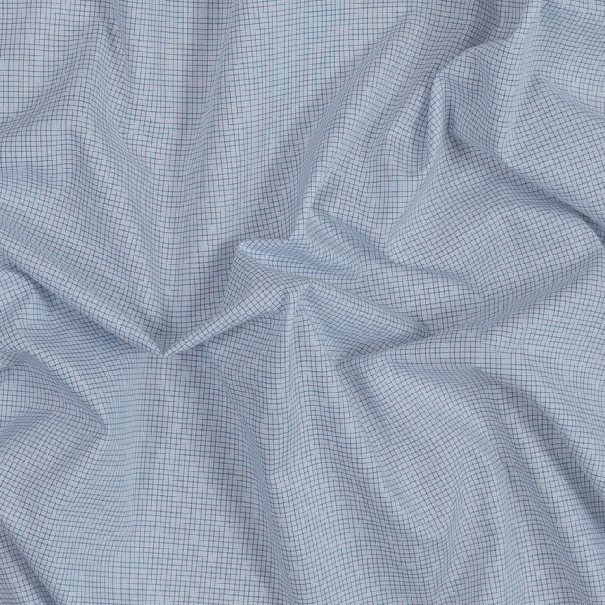blue and white graph check cotton shirting 318803 11